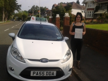 Bethan Disney proudly holding her Pass Certificate after passing first time today with few driver faults.  Another first time pass for Salvina and Drivewell Driving Academy.  A great achievement after fitting in lessons around pregnancy.  Congratulations and well done again. Enjoy your driving and keep you and the family safe.  Salvina & Sarah ...