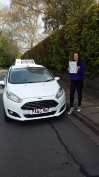 Beth Bridges so pleased to be clenching her Pass Certificate after passing her driving test today. A fantastic, safe, confident drive overcoming those test nerves and negotiating morning rush hour traffic.  A well deserved result.  Beth showed such a positive attitude to learning on her lessons always smiling and giving 100% making my job easier.  ...