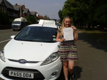 Eden Davies proudly holding her Pass Certificate after passing first time today.  Congratulations again and well done.  A great achievement after juggling work and Uni, and a reward for all your perserverance.  Salvina is looking forward to seeing you foe Pass Plus, and the good news is there is no test after it! Good luck for safe driving. 22nd Ju...