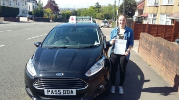 Sofia Schiavo so pleased to be holding her Pass Certificate after passing her test first time. Sofia worked extremely hard always trying her best and displayed a fantastic drive with only 2 driver faults. Congratulations and well done again.  Looking forward to some more positive and enjoyable lessons when I see her soon for Pass Plus. Salvina Driv...